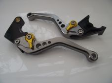 Yamaha MT01 (04-09), CNC levers short titanium/gold adjusters, R104/C777